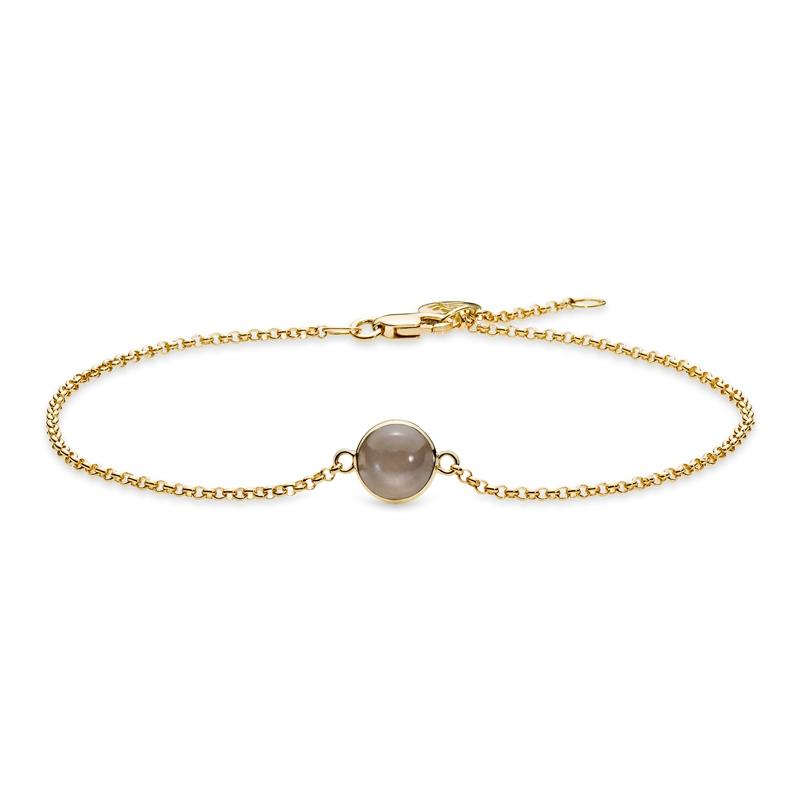 Julie Sandlau Lumina armbånd i guld med røgfarvet månesten