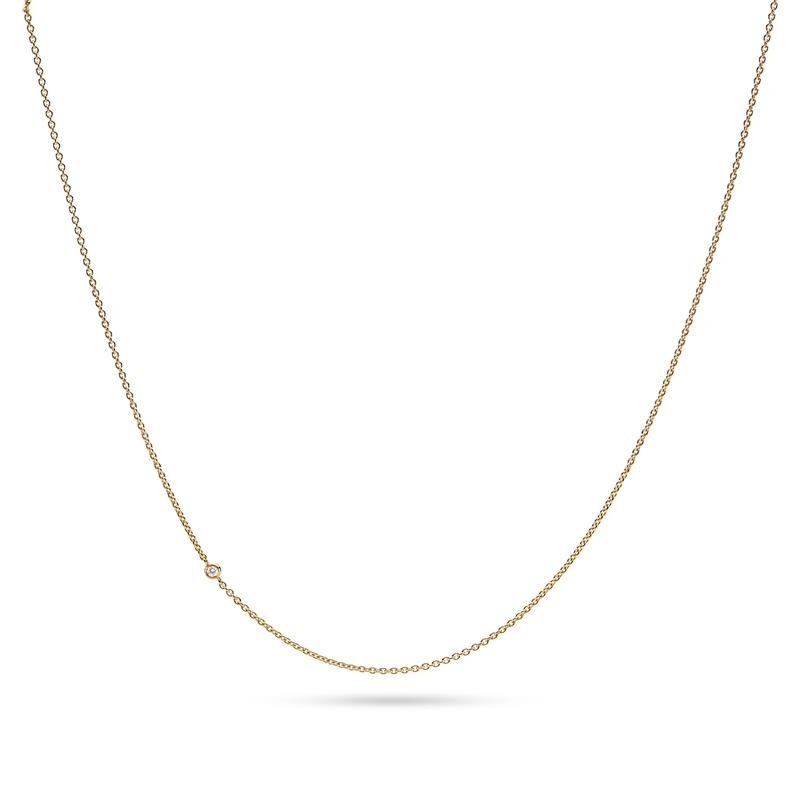 Image of   Julie Sandlau Legacy kæde i guld med diamant, 45 cm