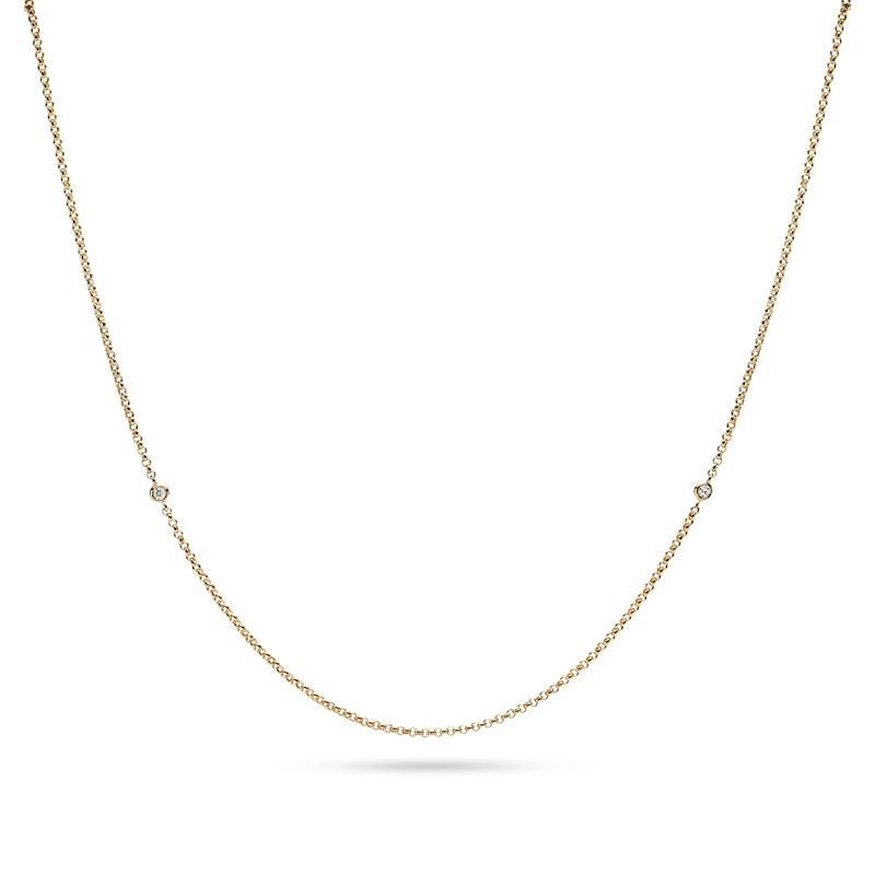 Image of   Julie Sandlau Legacy kæde guld med diamanter, 80 cm