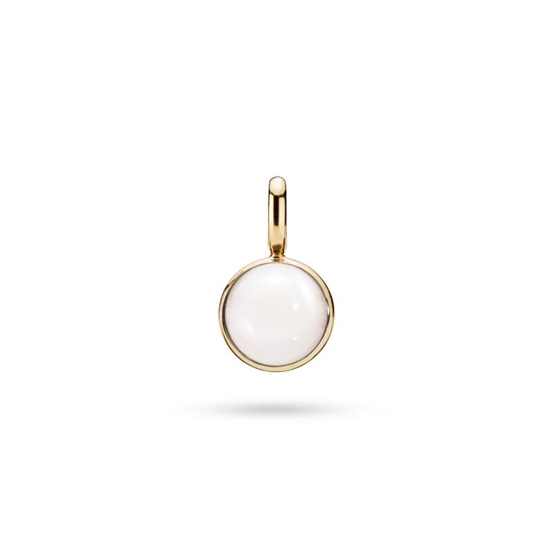 Julie Sandlau Lumina vedhæng i guld med hvid månesten
