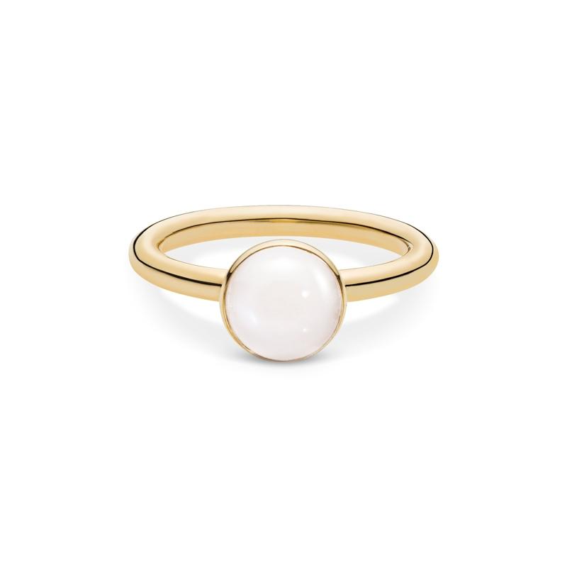 Julie Sandlau Lumina ring i guld med hvid månesten