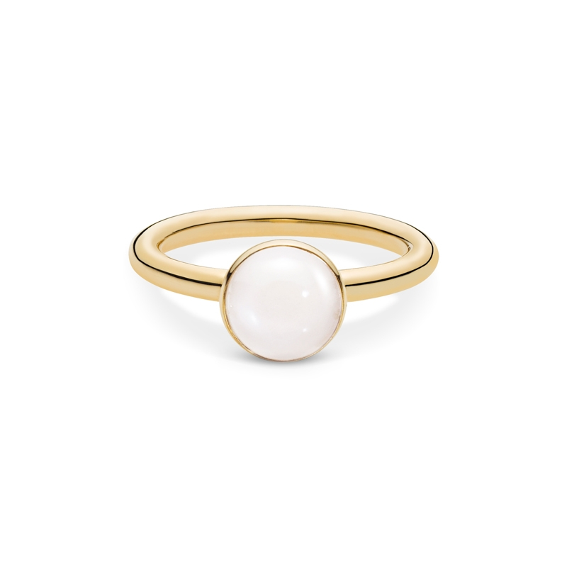 Image of   Julie Sandlau Lumina ring i guld med hvid månesten