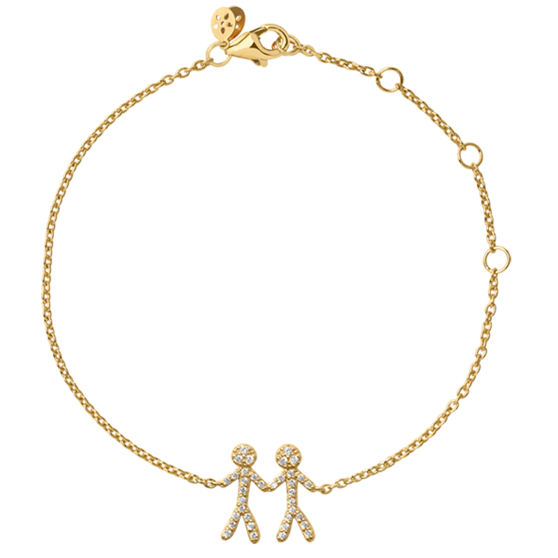 Image of   ByBiehl You and Me together 2 armbånd i forgyldt med cubic zirkonia